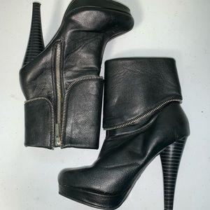 Michael Antonio zipper heeled booties in EUC